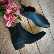 Jeffrey Campbell Womens Stormy Matte Short Rain Bootsl Size 9 Navy Blue Photo