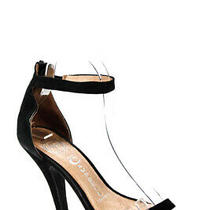 Jeffrey Campbell Womens Suede Ankle Strap Sandals Black Size 7.5  Ll19ll Photo