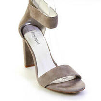 Jeffrey Campbell Womens Suede Ankle Strap Sandals Heels Grey Size 9 Ll19ll Photo
