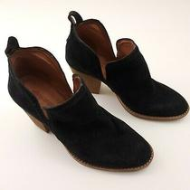 Jeffrey Campbell Womens Suede Leather Block High Heel Ankle Boots Size 7m Black Photo