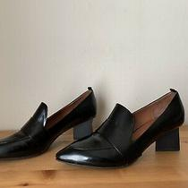 Jeffrey Campbell Womens Sz 9b Locklyn Loafers in Patent Leather Triangle Heel Photo