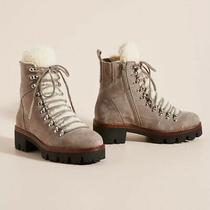Jeffrey Campbell X Anthropologie Culvert Hiker Boots Shearling Lined Us Size 7 Photo