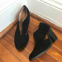 Jeffrey Campbell X Free People Black Deep v Suede Heeled Booties Size 10 Photo