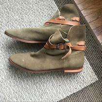 Jeffrey Campbell X Free People Green Suede Booties Photo