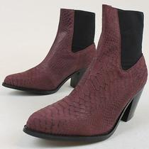 Jeffrey Campbell X Free People Womens New Frontier Boots Wine Red Snake 7 Nib Photo