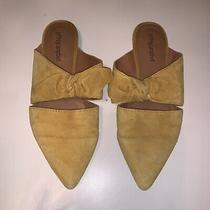 Jeffrey Campbell Yellow Suede Mules Size 7 Photo