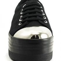 Jeffrey Campbell - Zomg Silver Cap Sneaker - Size 8 Photo