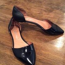 Jefrrey Campbell in Love Black Leather d'orsay Flats Sz 9..5 Photo
