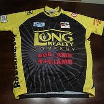 Jek Sports Mens Sweet Black Yellow Long Realty Rob Lamb Bike Cycling Jersey Sz L Photo