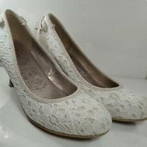 Jellypop Women's White Lace Rose Gold 2 Inch Heels  Size 7m Photo