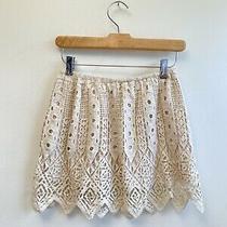 Jen's Pirate Booty Boho Aztec Crochet Mini Lace M Skirt Free People Photo