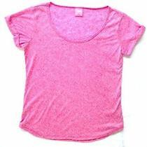 Jenni by Jennifer Moore Short Sleeve Pajama T-Shirt Rose Bloom Size Small Photo