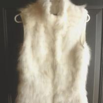 Jenni Kayne Rare Rabbit/fox Fur Vest Size 8 Euc Photo