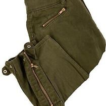 Jennifer Hudson Army Green High Waist Stretch Legging Size 2 Zip and Snap Ankle Photo