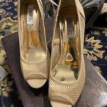 Jennifer Lopez Shoes Blingy Blush Women's Size 8 Peep Toe Platform Heels Pumps Photo