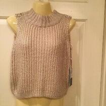Jennifer Lopez Sleeveless Blush Color W/silver Throughout Sweater Size Xs New Photo