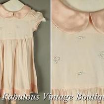 Jenny Annie Dots Blush Pink Embroidered Wedding Flower Girl Formal Dress 4 Photo