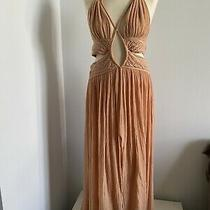Jens Pirate Booty Peach Gauze Maxi Dress Size Large Impossible to Find Style Photo