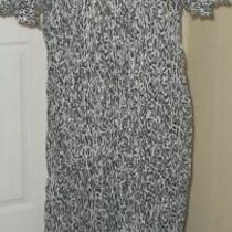 Jessica Bloom Women's Dress One Size Fits Mostgray Leopard Print Crochet Nwt Photo