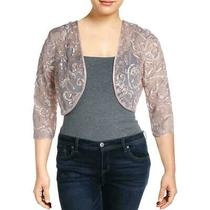 Jessica Howard Womens Jacket Blush Pink Size 16 Mesh-Illusion Bolero 119 215 Photo