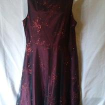 Jessica  Mcclintock 2pc Formal Prom Mother of Bride Sz 6 Burgundy Photo