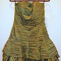 Jessica Mcclintock 52566 Green Taffeta Dress 10 Photo