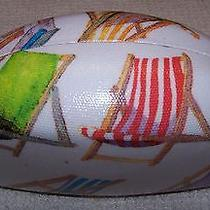Jessica Mcclintock Beach Chairs Clamshell Sunglasses Hard Case White Multi  Nwot Photo