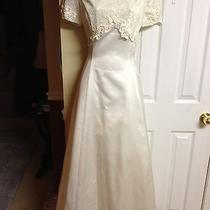Jessica Mcclintock Beautiful Off-White Lace Wedding Dress Photo