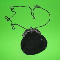 Jessica Mcclintock Black Evening Bag  Small Purse Photo