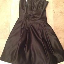 Jessica Mcclintock Black Short Strapless Formal Tulle Homecoming Dress Sz 1 Nwot Photo