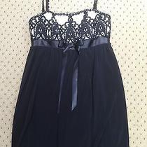 Jessica Mcclintock Black/white Dress Size 4 Photo