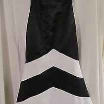Jessica Mcclintock Black & White Formal Dress  Photo