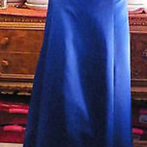 Jessica Mcclintock Blue Satin Long Formal Wedding Prom Dress 13 Photo