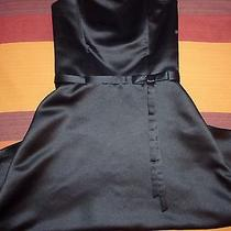 Jessica Mcclintock Bridal Classy Strapless Satin Black Dress Size 4 Formal Short Photo