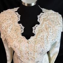 Jessica Mcclintock Bridal Suit Mother of the Bride Ornate Faux Pearl Beading 10 Photo