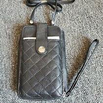 Jessica Mcclintock Crossbody Wristlet Wallet Travel Bag Phone Pocket Black Photo