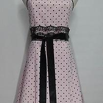Jessica Mcclintock for Gunne Sax Pink Black Polka Dot Corset Dress Size 7/8 Photo