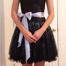 Jessica Mcclintock for Gunne Sax Short Formal Dress Size 3 Small Black Prom Photo