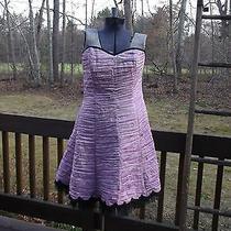 Jessica Mcclintock for Gunne Sax Sleeveless Sz Large Lavender Mini Dress C. 1970 Photo