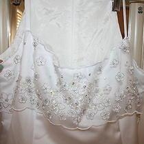 Jessica Mcclintock for Gunnesax Beautiful White  Wedding Dress Formal Size 6 Photo