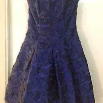 Jessica Mcclintock Formal Short Dress Gown Blue  Size 4 Photo