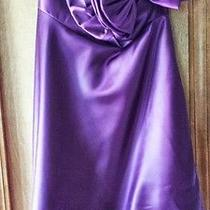Jessica Mcclintock Formal Short Plum Strapless Dress Nwt Photo