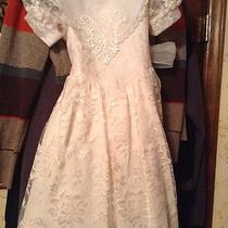 Jessica Mcclintock Girl 6 Formal Lace Short Sleeve Dress Bridal Photo