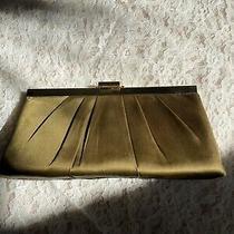 Jessica Mcclintock Green and Gold Clutch Evening Bag Photo