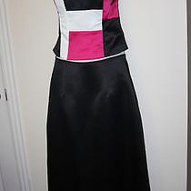Jessica Mcclintock Gunne Sax 2 Piece Formal Skirt Set Strapless Top Sz 7 (B35) Photo