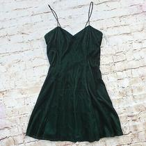 Jessica Mcclintock Gunne Sax Black Green Velvet Mini Dress Costume Cosplay Small Photo