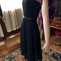Jessica Mcclintock Holiday Party Strapless Black Dress Size 4 Formal Short Photo