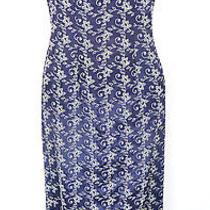 Jessica Mcclintock Navy Vintage Dress - Size 4 Photo