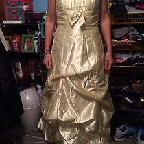 Jessica Mcclintock Prom Dress Yellow Size 9 Photo