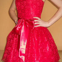 Jessica Mcclintock Red Homecoming Dress Photo